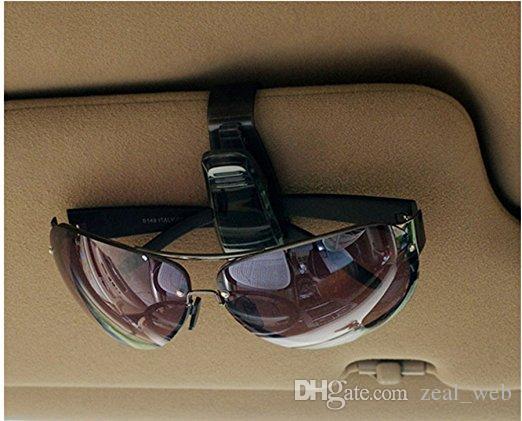 Le moins cher !!! Lunettes de soleil pour voiture Lunettes de soleil Ticket Clip Titulaire de lunettes Lunettes réflecteur transporteur cintre Sac Clips noir pour voiture