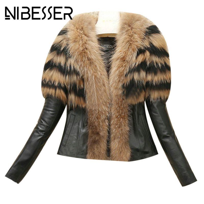 dd290e45294 NIBESSER New Women Coats 2017 Autumn Winter High Street Faux Fur ...