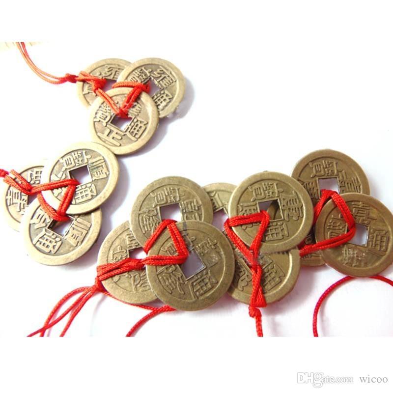 2 pçs / set moedas Chinês moeda De Cobre para a sorte Tradicional feng shui amuleto Casa Sorte Decoração moeda chinesa