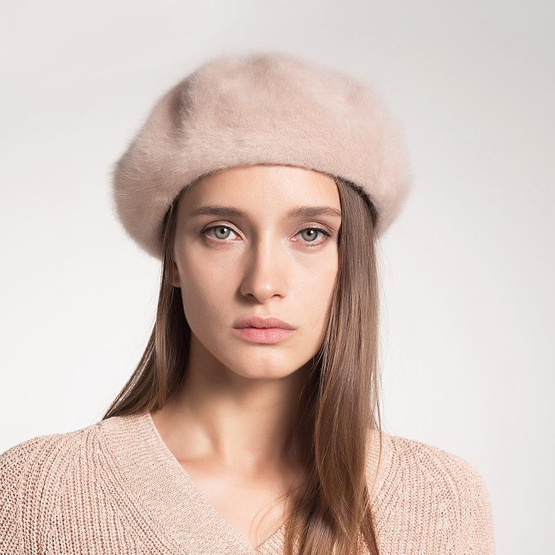 545832f8043 2019 Sedancasesa 2018 New Fashion Rabbit Hair Berets Caps Girl Hot Women  French Beret Beanie Hats For Ladies Solid Color From Taihangshan
