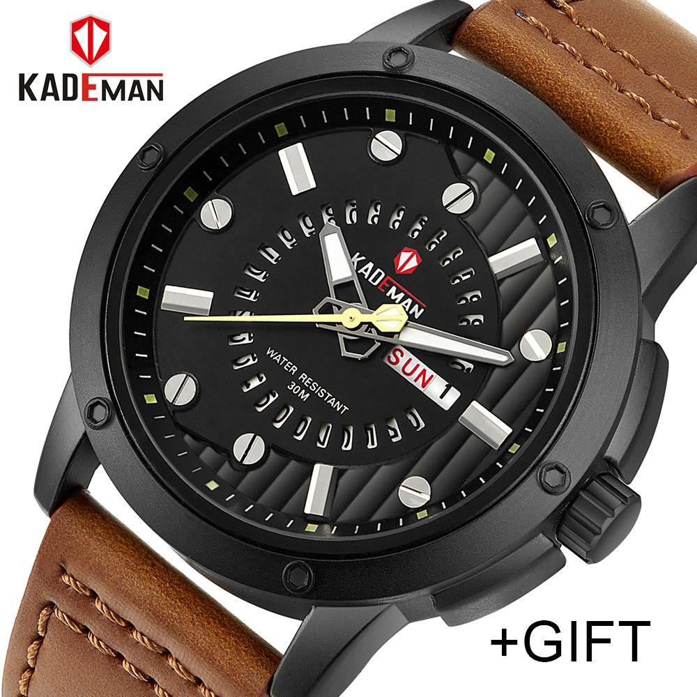 071c58aff120 Compre Nueva Marca De Lujo KADEMAN Hombres Relojes Militares Clásicos Reloj  De Cuarzo De Acero Completo Para Hombres Reloj Deportivo Masculino Relogio  ...