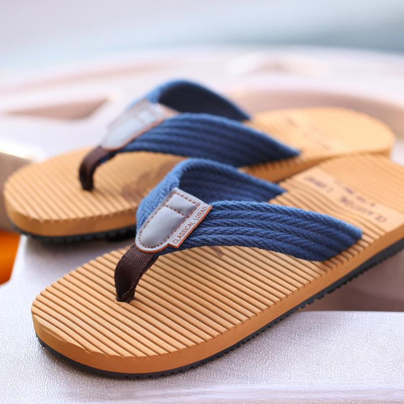 d084436f6b3c 2018 Fashion Men S Casual Summer Flat With Clip Clip Feet Non Slip Beach  Lun Trend Flip Flop Sandals And Slippers Espadrilles Birkenstock Sandals  From ...