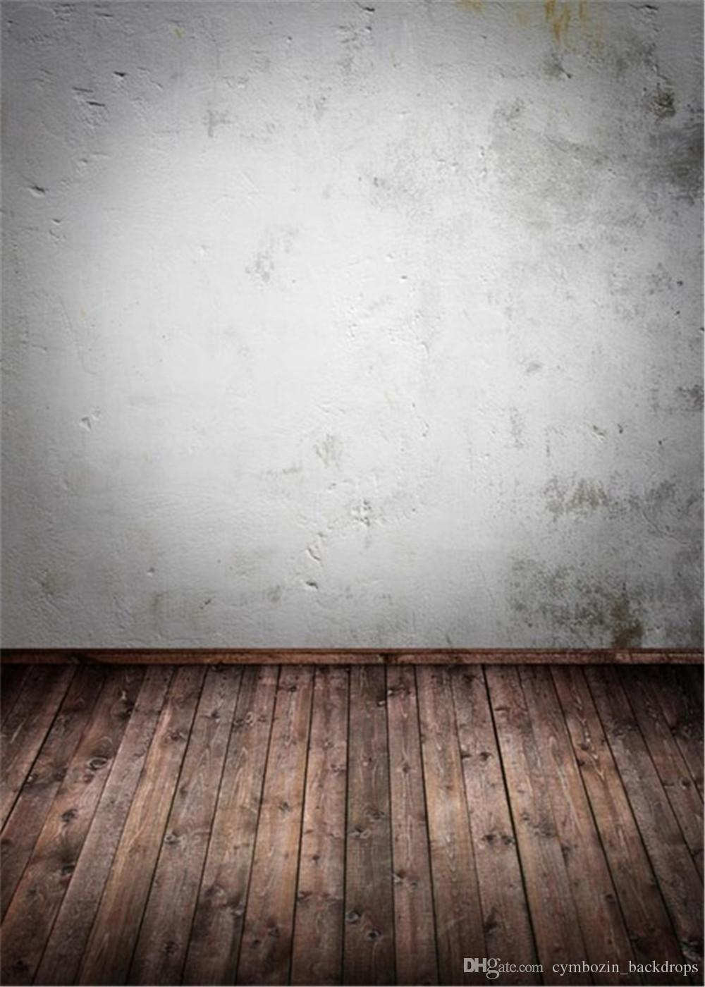 2019 retro vintage white wall photography backdrop dark brown wooden