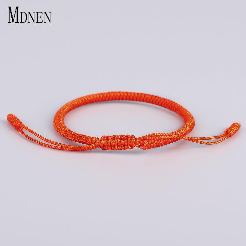 acf9f90613 2019 MDNEN Tibetan Buddhist Love Lucky Ring Rope Charm Tibetan Bracelets  Bangles Handmade Knots Bracelet Lover Couple Girlfriend Gift From Copy04