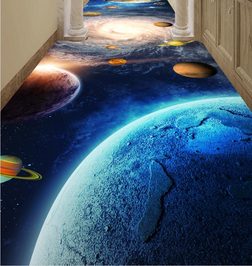 Extrem Großhandel Angepasste 3d Wallpaper Boden Bad Planeten Korridor 3d KJ86