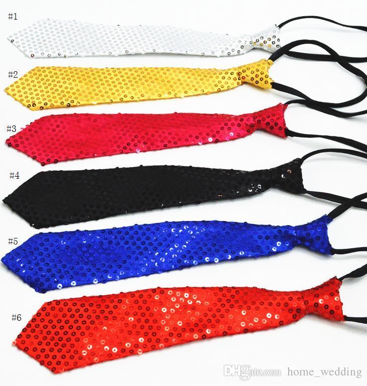 Großhandel Sparkly Glitter Pailletten Krawatte Erwachsene Kind ...