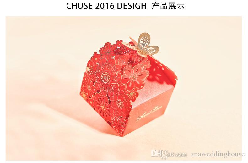 2018 Artisful Laser Cut Wedding Cady Boxes Novio y novias Decoración Wedding Party Favors Wedding Favors And Gifts Hollow European