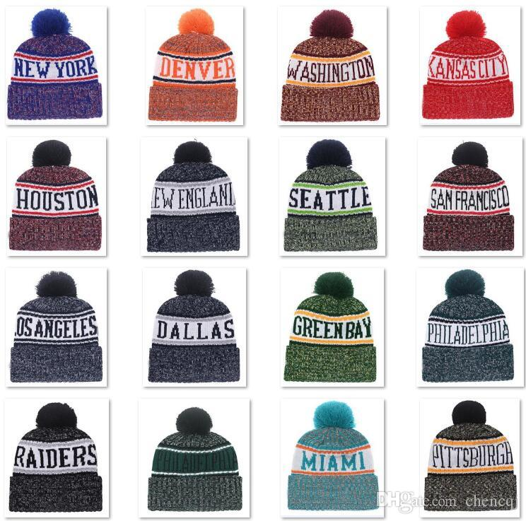 e94fe8715 2018 New Arrival Beanies Hats American Football 32 Teams Beanies Sports Winter  Knit Caps Beanie Skullies Knitted Hats Drop Shippping B1 Funny Hats  Baseball ...