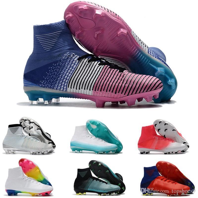 3da8bad6c33 Classical Mens CR7 Mercurial Superfly V FG Soccer Shoes Soccer ...