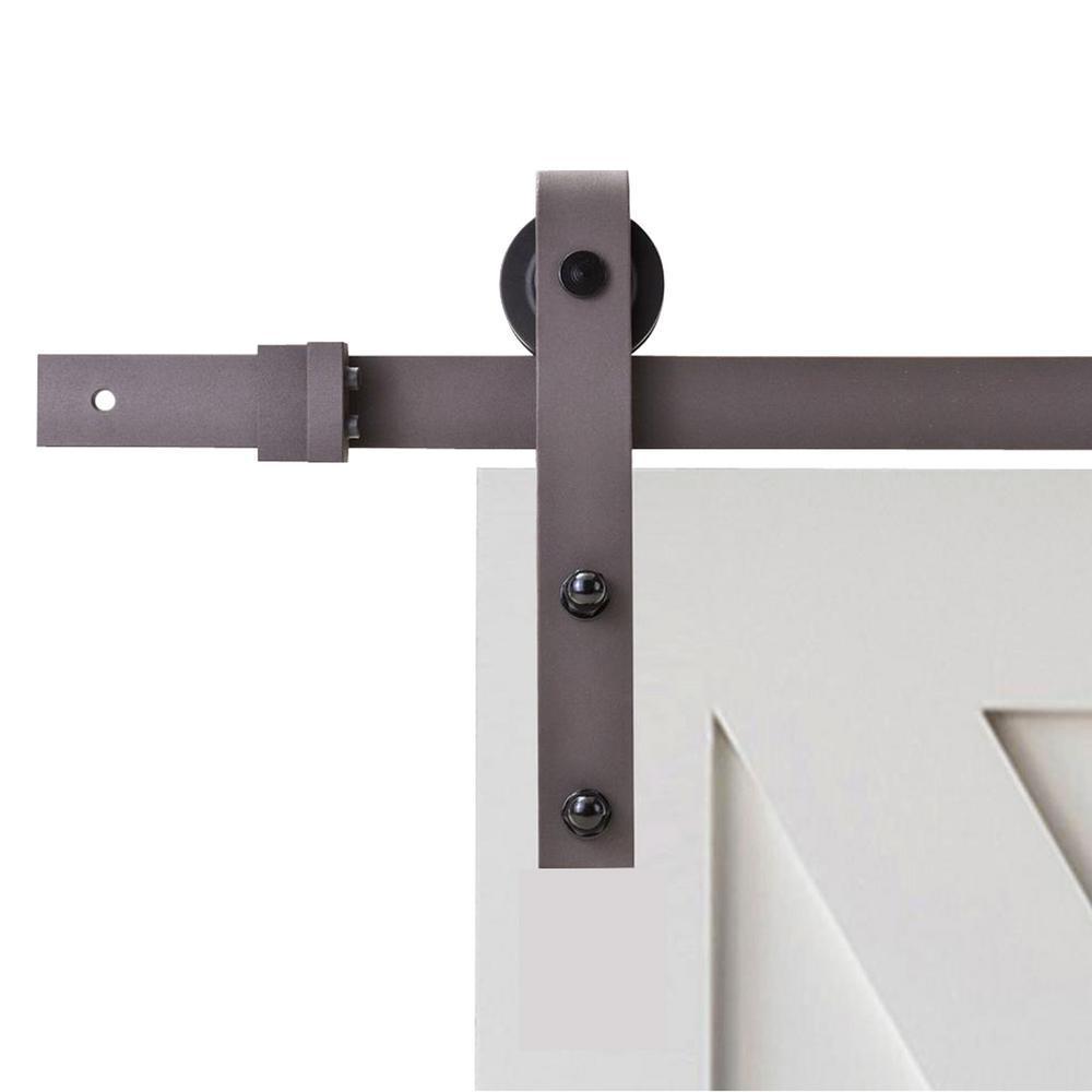 2018 Bronze Steel Sliding Barn Door Hardware Kit Antique Bronze Bent
