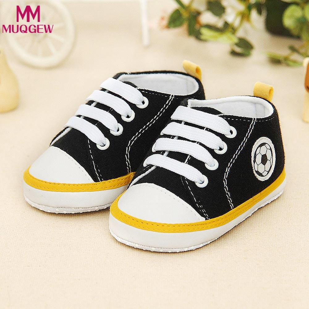 3586f7439 2019 Infant Toddler Kids Canvas Sneakers Baby Boys Girls Anti Slip Soft Sole  Crib Shoes Newborn Soccer Print Baby Prewalker From Beasy, $23.79 |  DHgate.Com