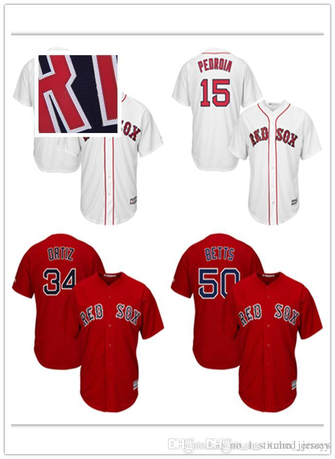 98c83b4e4 2019 Men'S Boston Red Sox Baseball Dustin Pedroia 15 Mookie Betts 50 David  Ortiz 34 Majestic Scarlet Alternate Cool Base Player Stitched Jer From ...