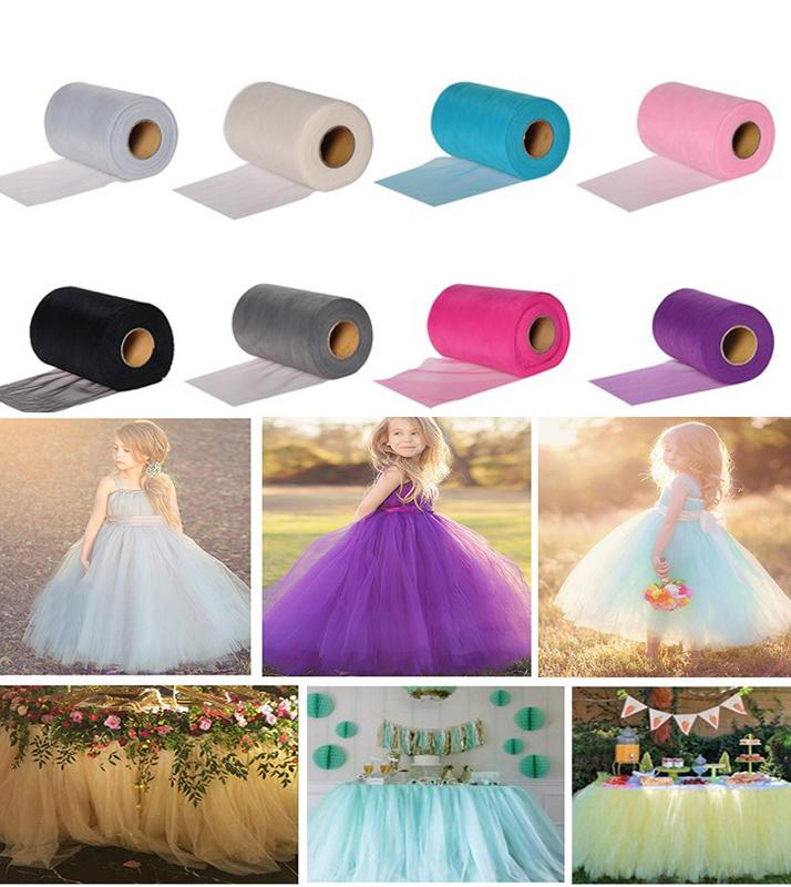 APRICOT 22mX15cm/ Roll Crystal Organza Sheer Gauze for Child Dress Table Runner Home Garden Wedding Party Decoration