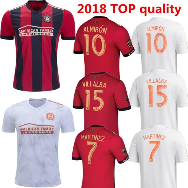 san francisco 0a4a5 a2513 new 2018 2019 Atlanta United fc home soccer jersey 18 19 ALMIRON JONES  MARTINEZ GARZA VILLALBA MCCANN away football shirts Free shipping