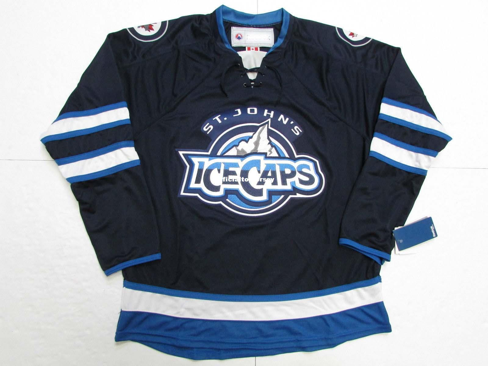 newest 6e8df 5926c Cheap Custom ST. JOHN S ICE CAPS BLUE AHL PREMIER HOCKEY JERSEY Mens  Stitched Personalized Any number Any name Jerseys
