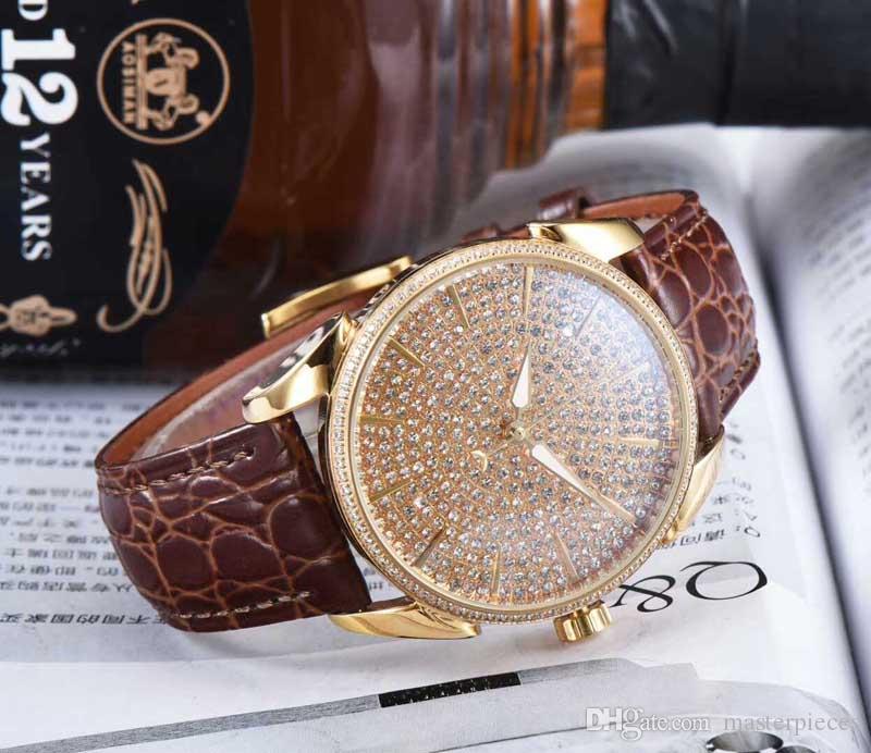 Regalo de moda para hombres Relojes mecánicos automáticos Relojes de lujo Reloj de cuero para hombre Reloj de cuero para hombres