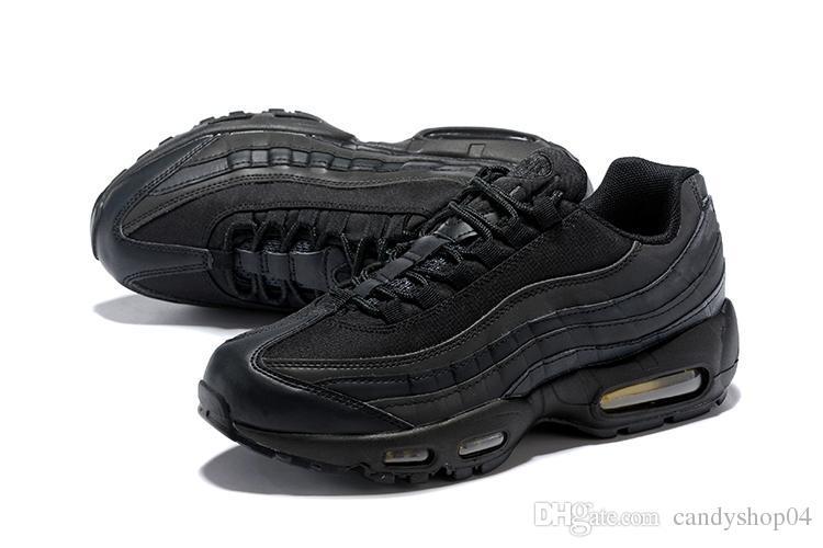 1657aa6ef295d Compre Nike Air Max 2018 NUEVOS Zapatos Para Correr Para Hombres 95 Hombres  95 OG Cojín Azul Marino Deporte De Alta Calidad Chaussure 95s Walking Boots  ...
