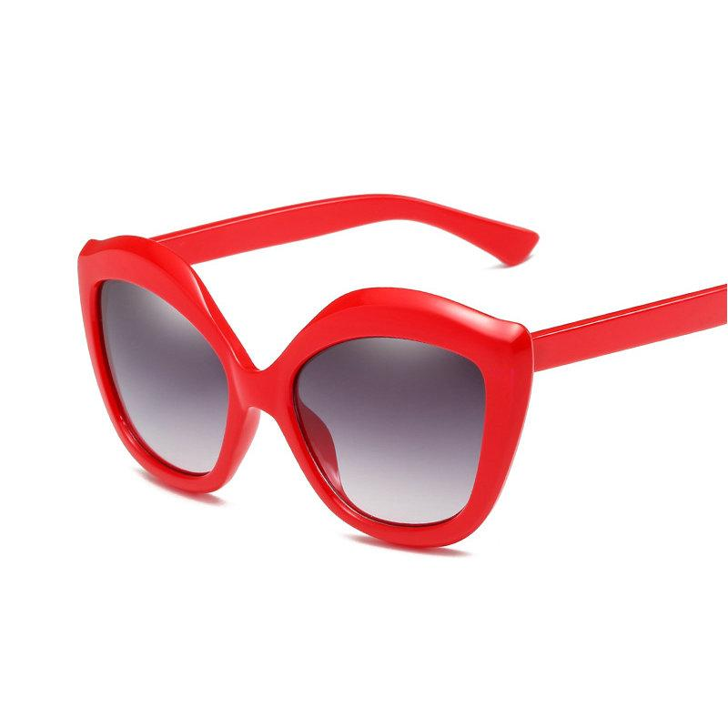 7f152c3945 New Heart Shaped Women s Sunglasses Big Box Fashion Cat s Eye Sunglasses  Red Sexy Lips Oversized Party NX Online Eyeglasses Discount Sunglasses From  Yongq