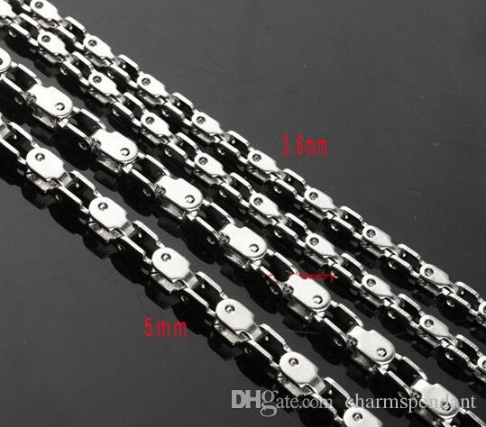 Best price on sale in bulk 10meter Stainless Steel 3.6mm/5mm Motorcycle chain. Bicycle chain jewelry findings / Marking Chain DIY