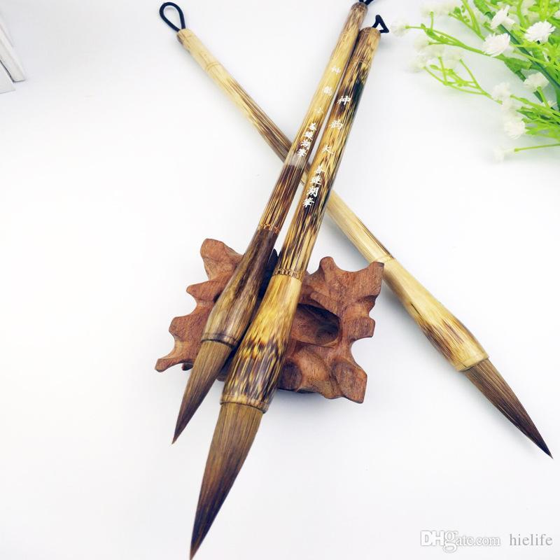 2019 Chinese Calligraphy Kanji Japanese Sumi Drawing Brush Writing Brush  Wood Painting Pen Script Hair Brusher Large Small Medium Size From Hielife 81d0ebb18b26