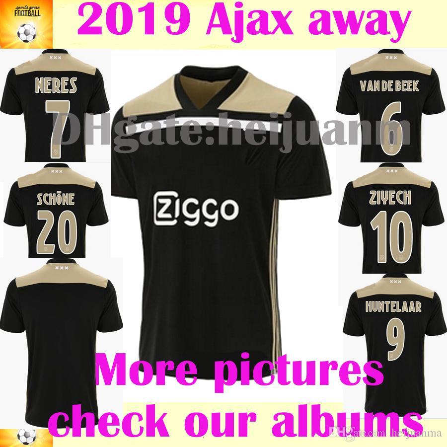 18 19 Ajax FC Visitante Negro Soccer Jersey 2018 Fanáticos Tailandia  Camiseta De Fútbol 2018 Personalizada   10 KLAASSEN   34 Uniforme De Fútbol  NOURI Por ... 6fd0523eadf35