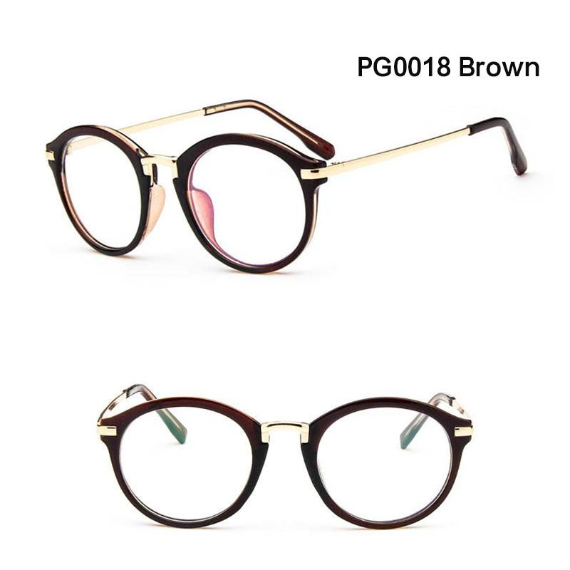 d3c3e72159b 2018 Round Glasses Frame Male Female Retro Fashion Brand Design ...