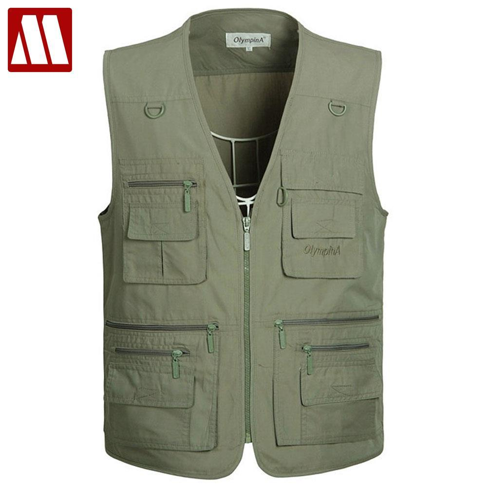 Jackets & Coats 2019 New Style Hot Sales Men Photography Outdoors Mesh Multi-pocket Sleeveless Jackets Vest Waistcoat High Quality Sales
