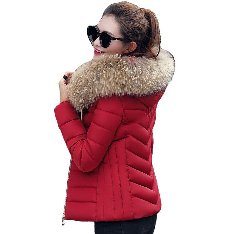 1efb281d2e 2019 NEW Plus Size 3XL 4XL Female Coat Autumn With Fur Collar Hooded Cotton  Padded Winter Jacket Women Short Outwear Basic Jacket Coats Jacket Coat  Leather ...