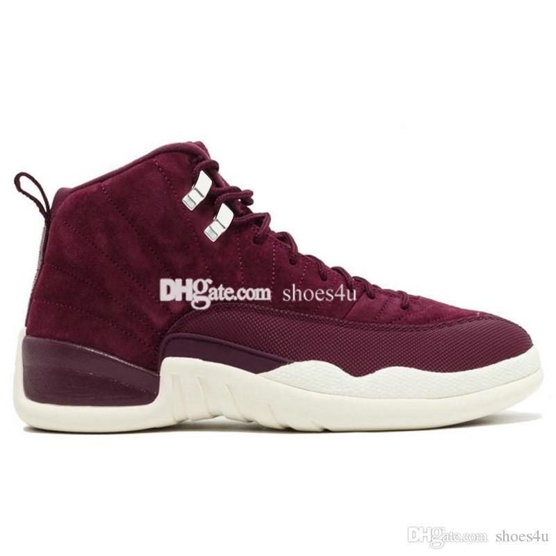 Дешевые 12 мужчин баскетбольная обувь Восход бордо темно-серый Пшеничный грипп игра Мастер такси плей-офф французский синий бароны тренажерный зал Красный спортивные кроссовки