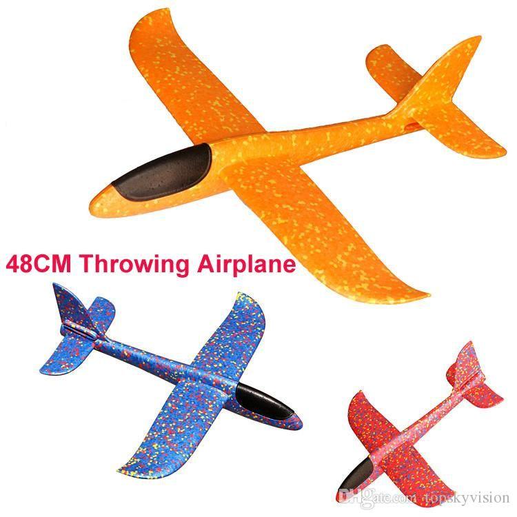 b6f564163f Compre Avión Lanzamiento De La Mano Throwing Glider Aviones Inertial Foam  EVA Avión De Juguete Modelo De Avión Juguete Al Aire Libre Juguetes  Educativos ...