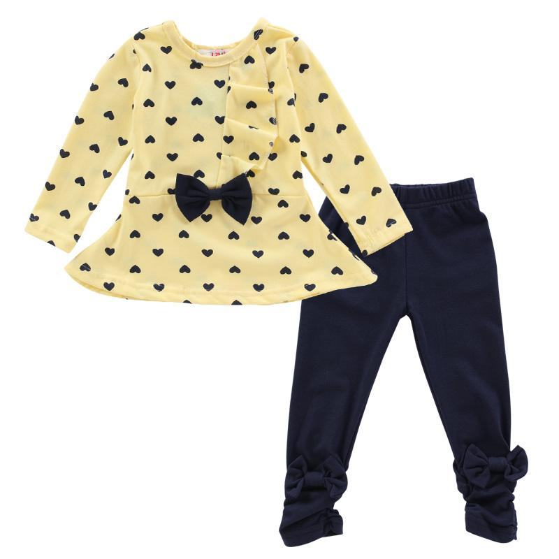 89e7e86d4888 Baby Girl Clothes 2018 Autumn Tshirt+Pants Sports Suits For Girls Christmas Outfits  Clothing Kids Children Clothing Set 2 Years
