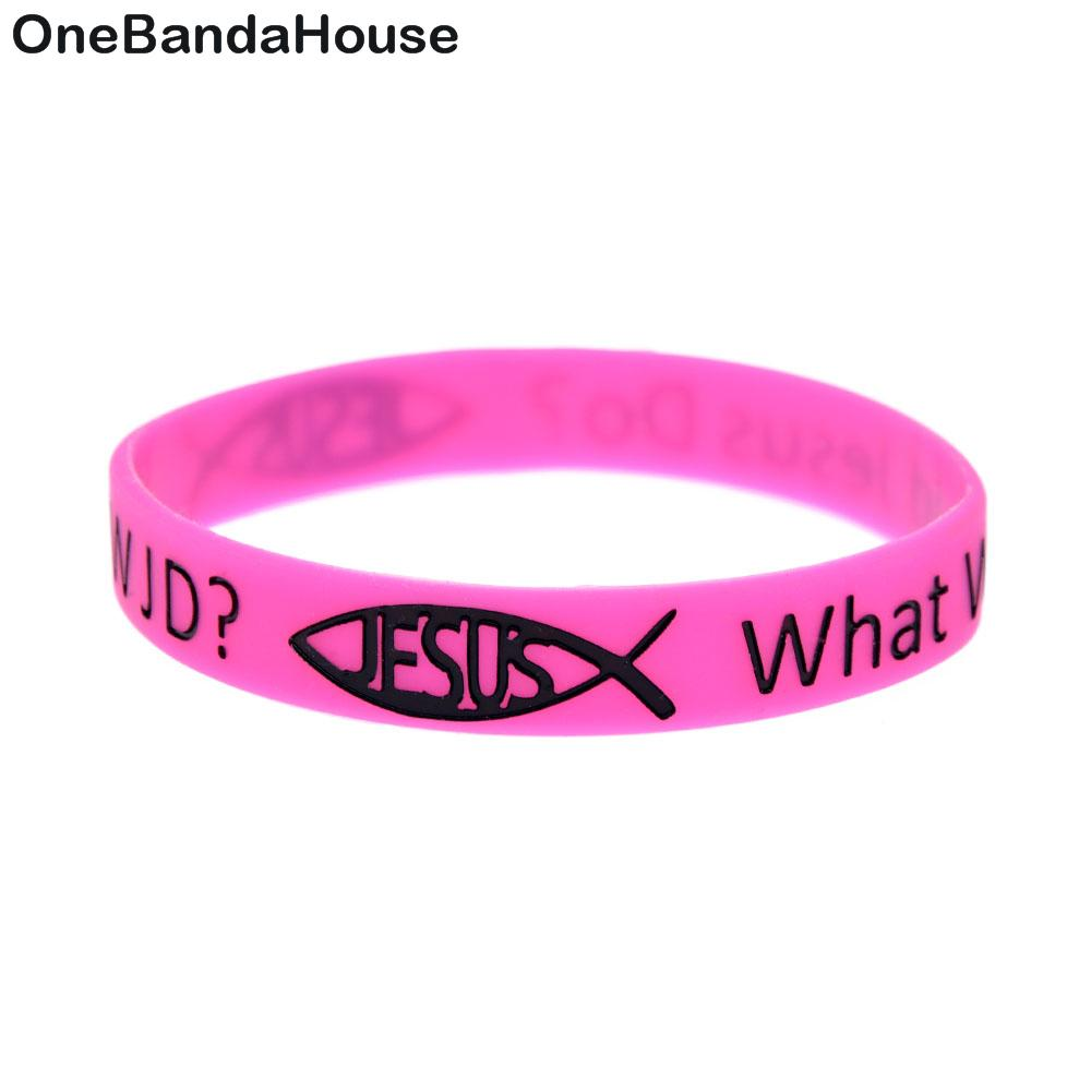 2018 Onebandahouse Jesus Silicone Wristband Color Filled In Logo ...
