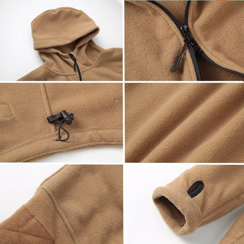 High Quality Military Fleece Warm Men Tactical Jacket Thermal Breathable Hooded Men Jackets And Coats Outerwear Clothes