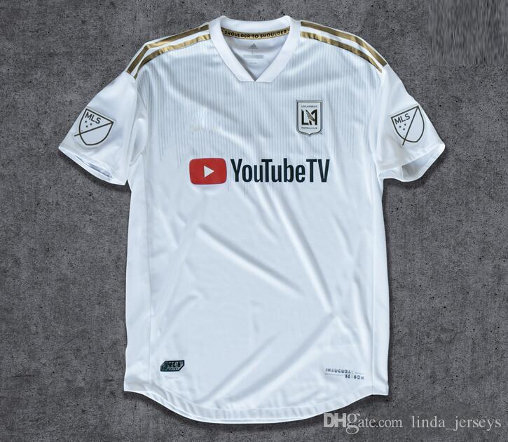 Soccer Jersey 2018 LAFC Carlos Vela Football Shirts Los Angeles FC Uniforms Gaber Rossi Ciman Zimmerman Black USA Ropa de fútbol Top Quality