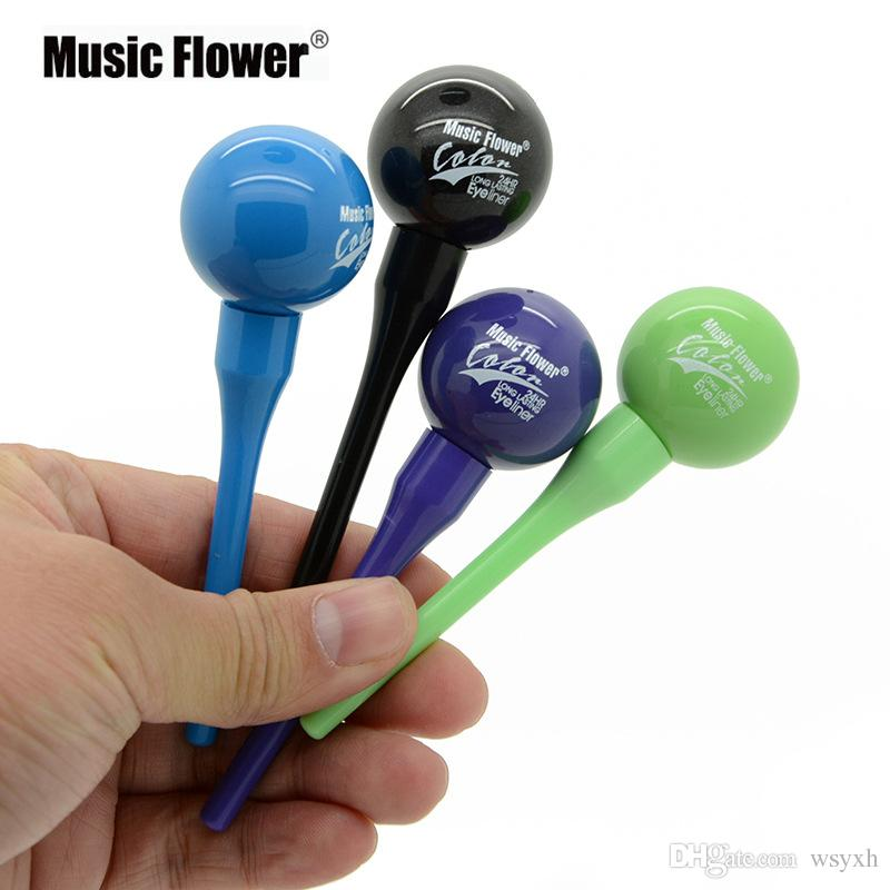 Makeup New Music Flower Liquid Eyeliner Pencil Eye Liner Pen Makeup Lollipops Eyeliner 6colors high quality