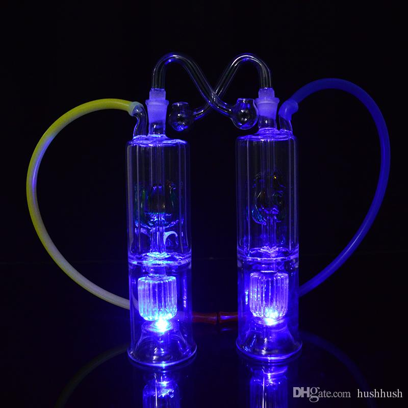 Bong Dab Rig Burbuja de luz LED Lubricante de aceite de vidrio 6
