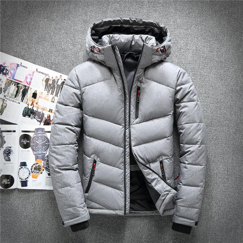 a3b2b1f365a 2019 2018 Winter Hooded Duck Down Jackets Mens Warm Thick Quality ...