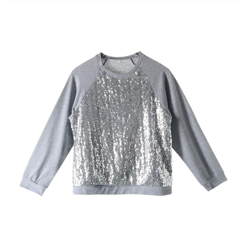 2018 New Christmas Sweater Fashion Family Matching Outfits Women Newborn Baby Girls Sequins Tops Sweatshirt Family Look Clothing
