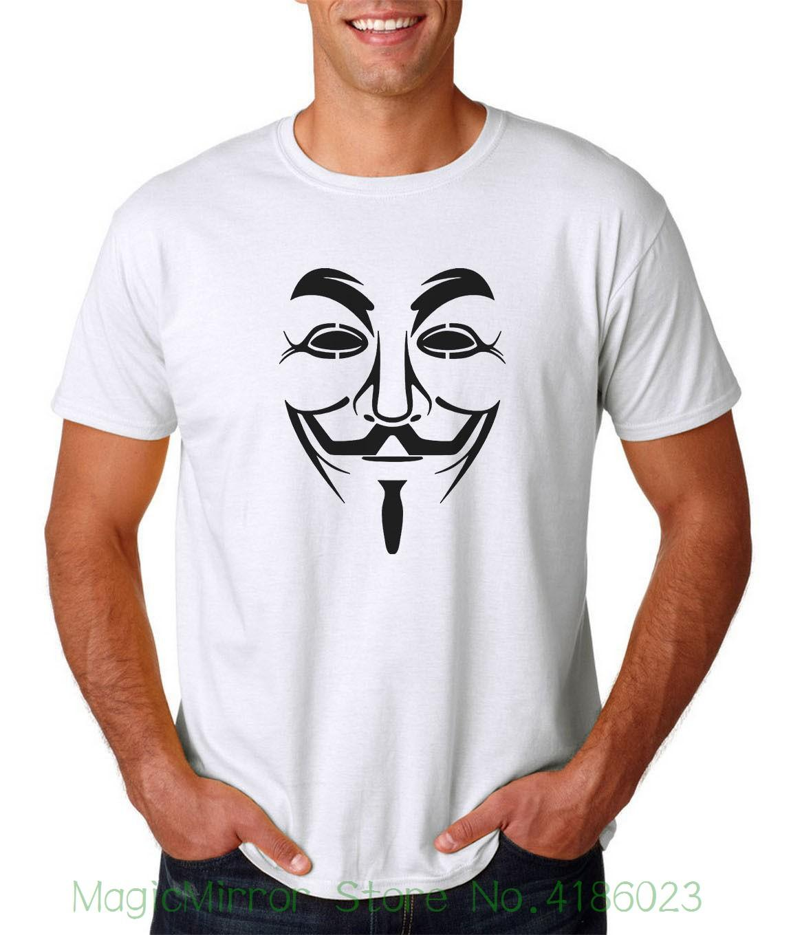 Anonymous mask t shirt s 3xl v vendetta guy fawkes disobey freedom hacker 2018 new summer men hot sale fashion gag t shirts t shirts with prints from