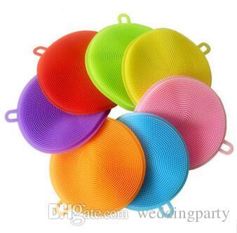 cucina in silicone piatto pennello scrubber pad pentola vaschetta lavastoviglie lavapiatti utile silicone magico ciotola ciotola spazzole la pulizia