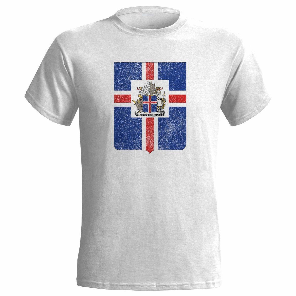 34f9c21ab5d2 Исландия герб проблемных смотреть мужская футболка эмблема исландский флаг  ...