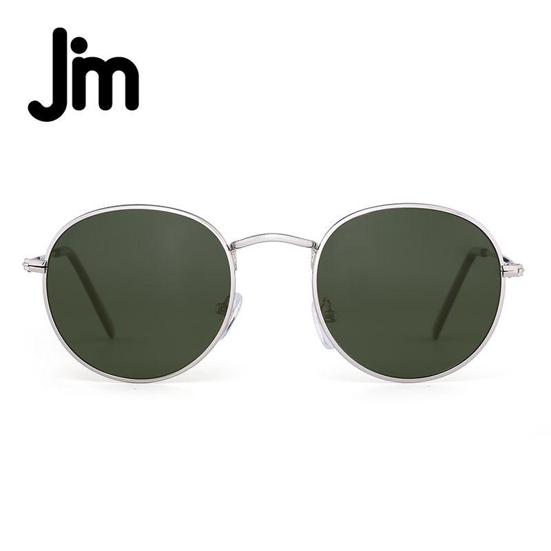 JM Polarized Small Round Sunglasses Retro Mirror Circle Lens Metal ...