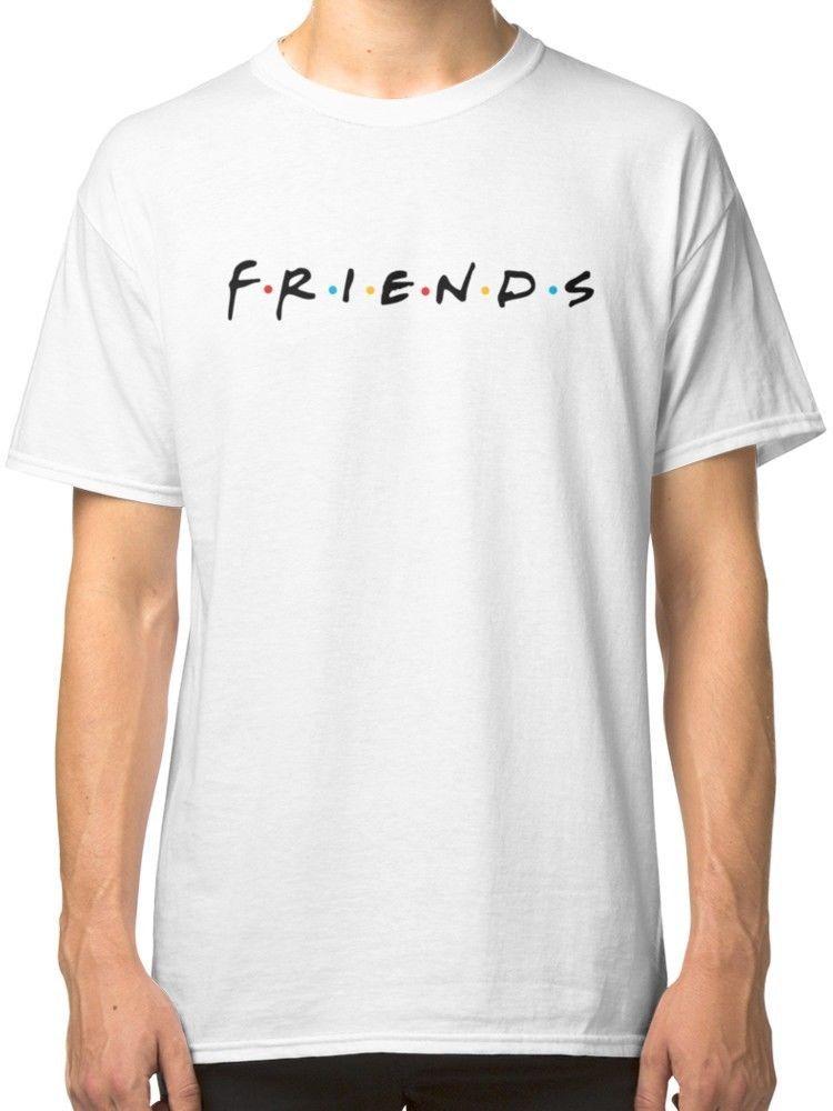 Friends (TV Show) - Logo White Tees Shirt Clothing
