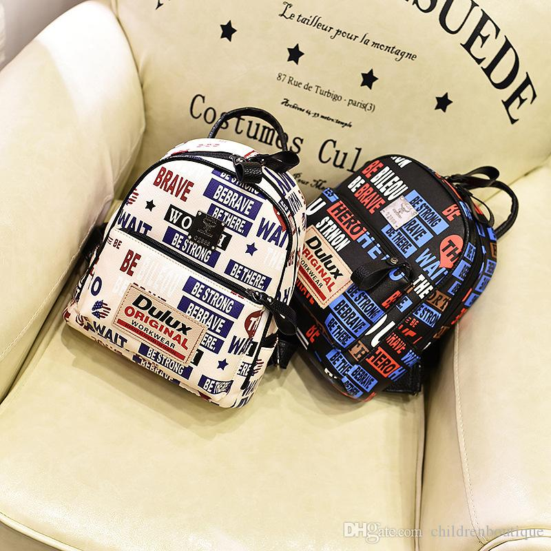 Kids Shoulders Bags Girls Fashion Korean Cute Backpack Letter Printing  Casual Simple Preppy Style Bag Teenagers Travel Shopping Backpacks School  Backpacks ... 867cc967fa4fc