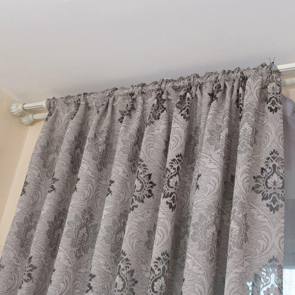 Acheter Tissus à Rideaux Jacquard De Style Européen Pour Fenêtre