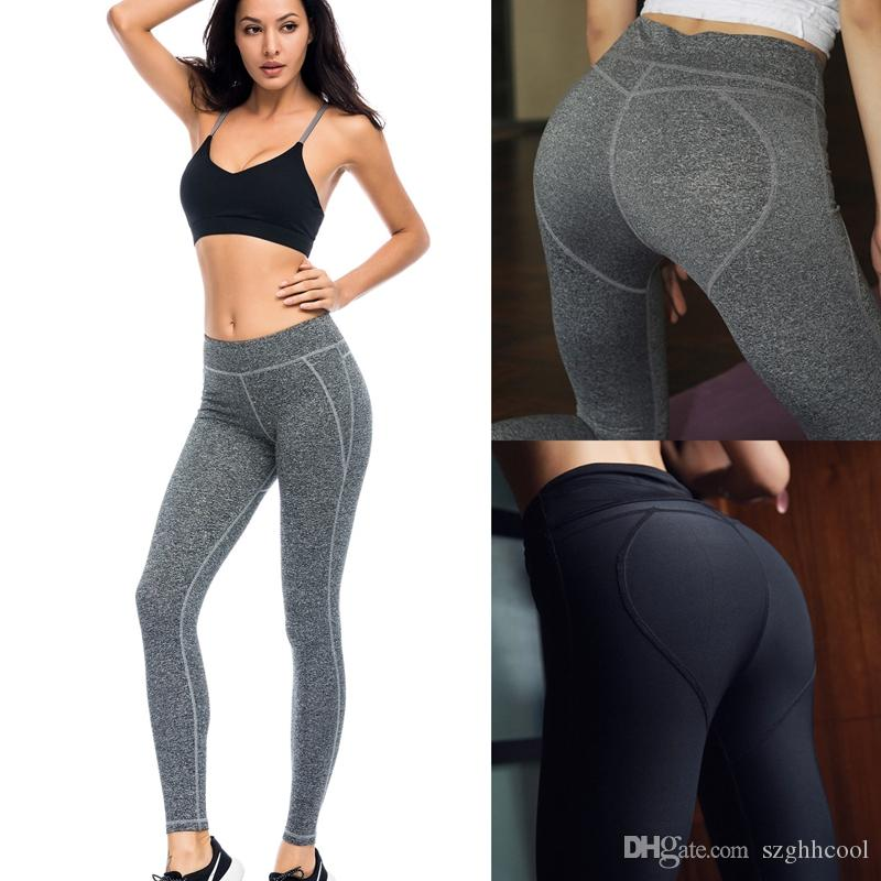 2a818329b069f 2019 Wholesale New Women Fitness Sports Leggings Gym Clothes Ladies Workout  Set High Quality Sexy Shaping Hip Quick Dry Sportswear Yoga Pants From  Szghhcool ...