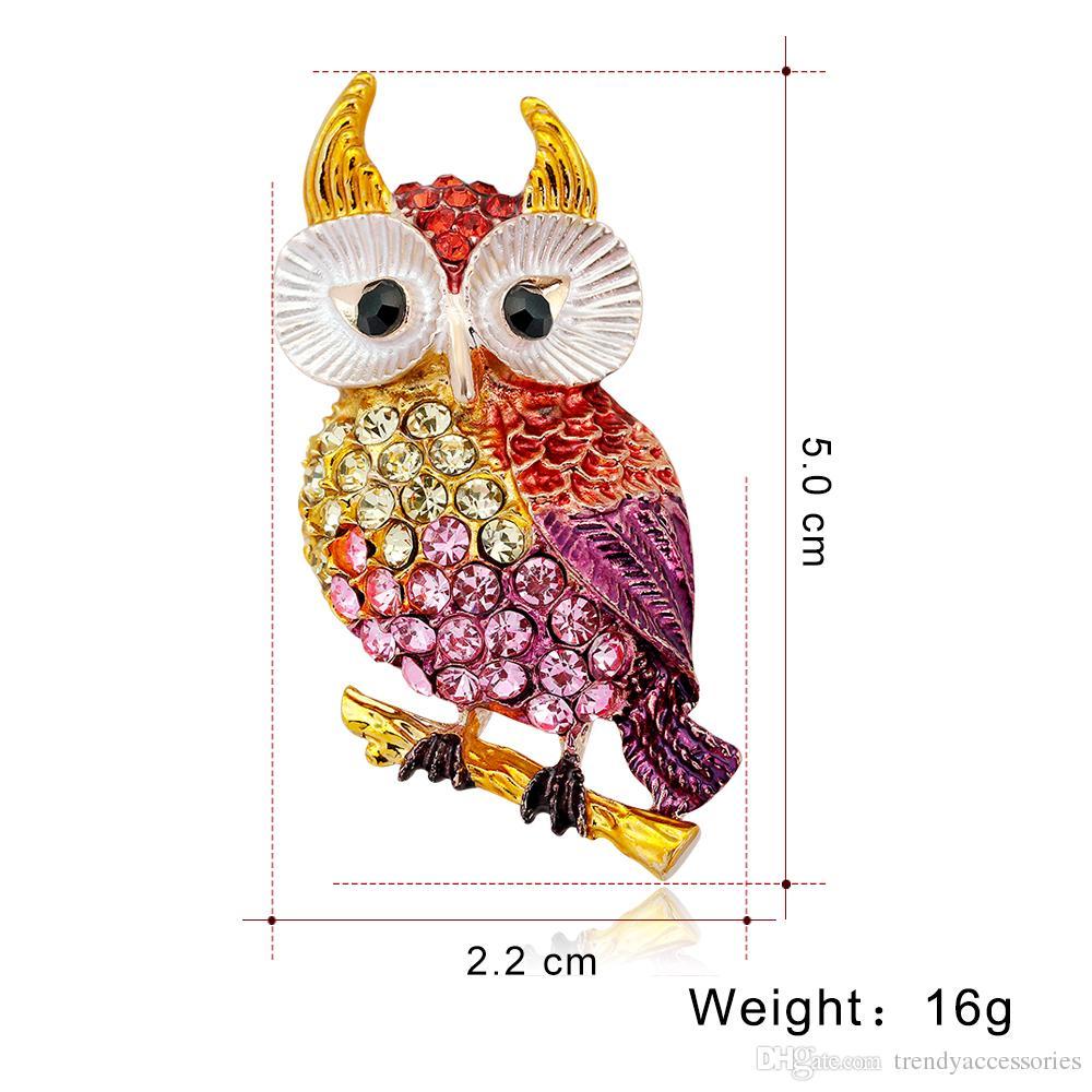 Broche de coruja bonito ctct pássaro coleção broche pingente de pino