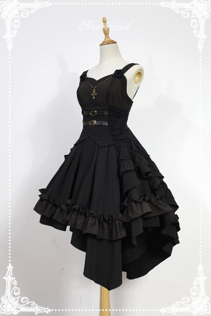 Gothic Lolita Dress Dark Angel Series High Low Lolita JSK Dress by Soufflesong Dress Dark Dresses Dress Dress Dress Dress Online with $198.85/Piece on ...
