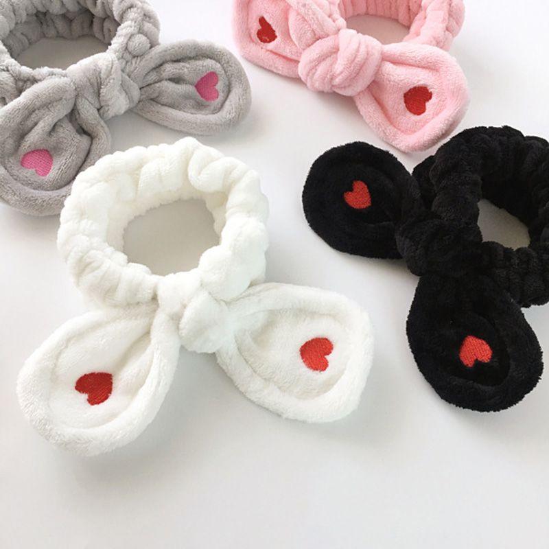 cde69508cfa Big Rabbit Ear Soft Elastic Soft Headband Women Towel Hair Band Bath Spa  Make Up Girls Face Washing Hairband Headwear Bows Hair Accessories  Accessories For ...