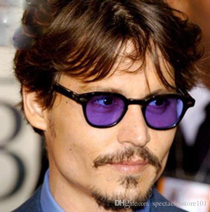 de2261104c6 SPEIKE Customized Sunglasses 44 46 49mm Johnny Depp Vintage Round ...